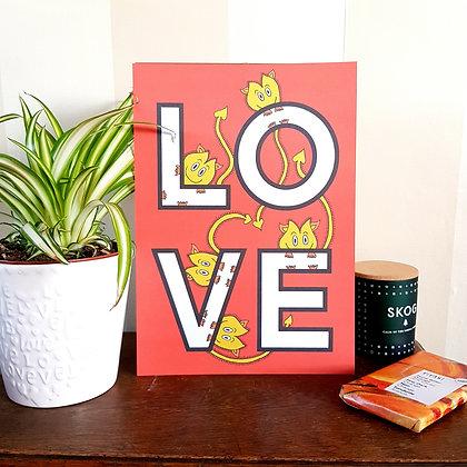 LOVE Goblins Print