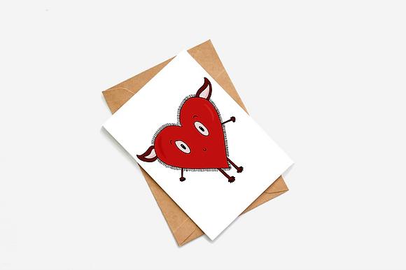 Cute Heart Goblin lllustration card