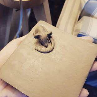 Ceramic Mouse Tile - Commission