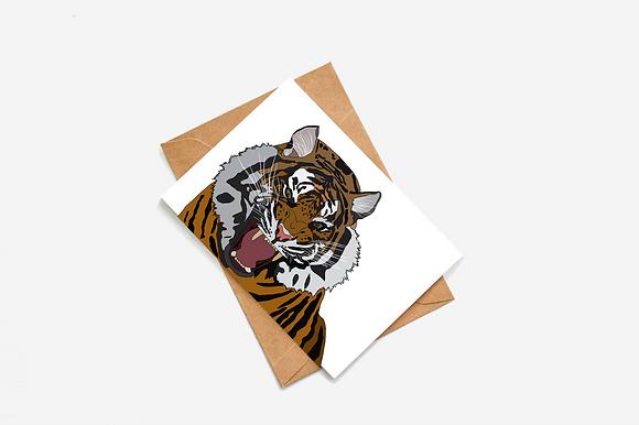 Tiger Illustration card