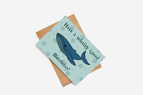Whale Birthday lllustration card