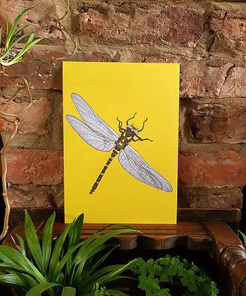 Dragonfly Print - Yellow