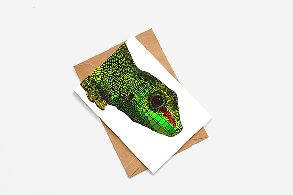 Lizard Illustration card