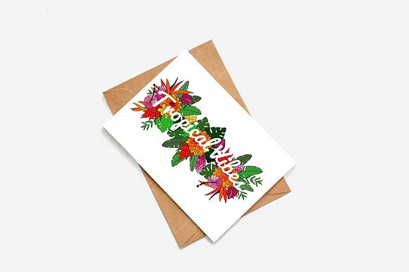 Tropical Vibes Illustration card
