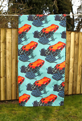 Poison Dart Frog Tea Towel - Teal