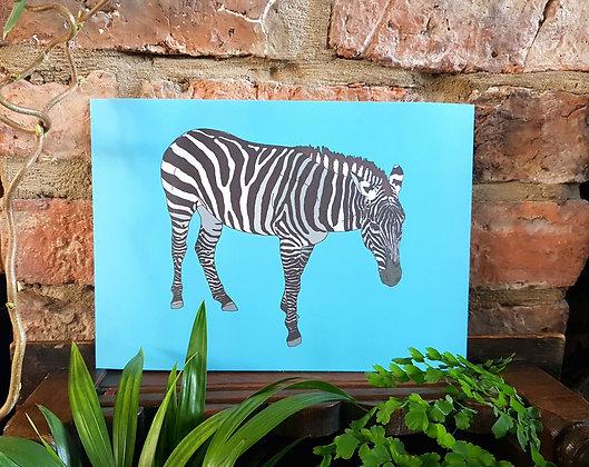 Zebra Print - Blue