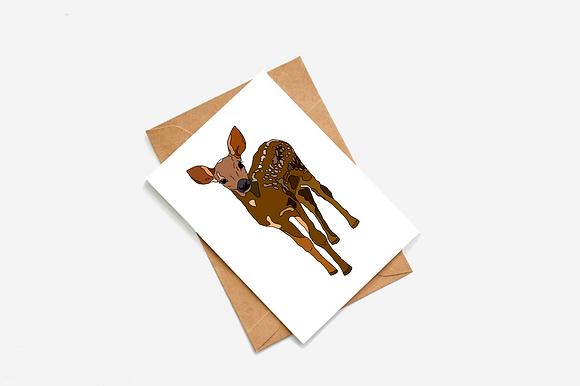 Deer Illustration card