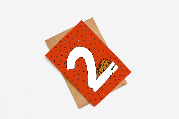 2nd Birthday Goblin - Red lllustration card
