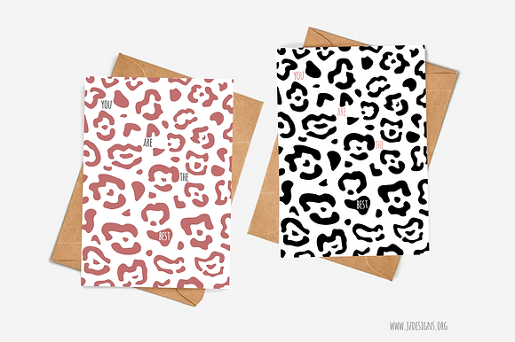 Leopard Print 'You Are The Best' Illustration card