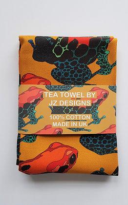 Poison Dart Frog Tea Towel - Orange