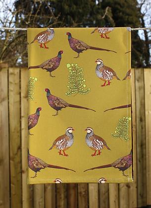 Pheasant & Red Legged Partridge Tea Towel
