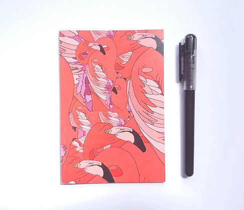A6 Flamingo Madness Notebook