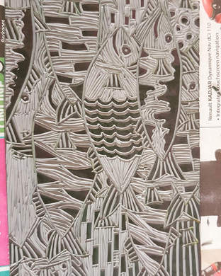 Lino cut - Fishes