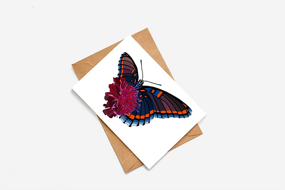 Butterfly - I Illustration card