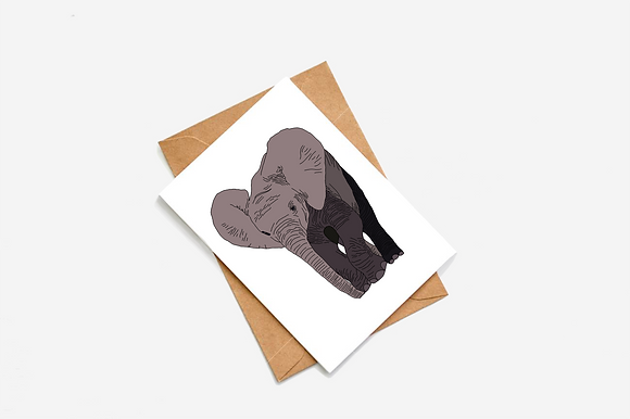 Elephant Illustration card