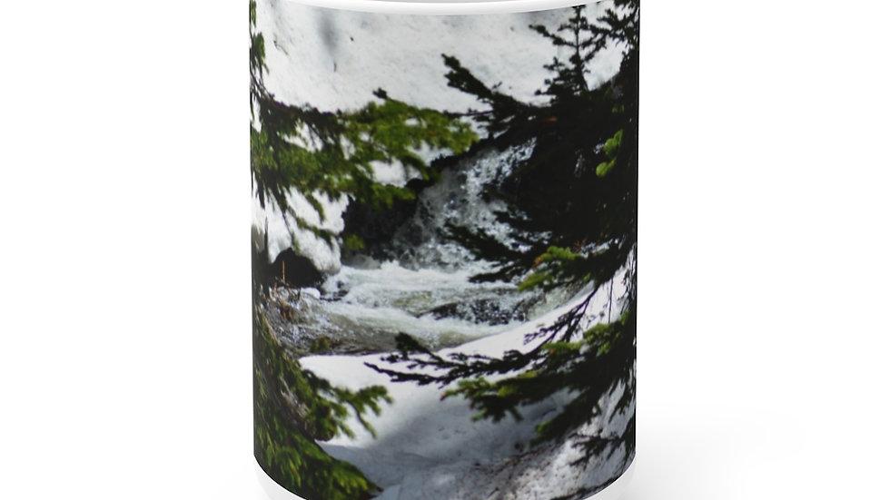 Mountain Creek White Ceramic Mug