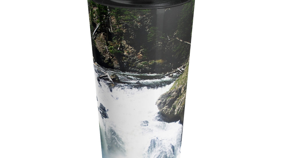 Mountain River, Yellowstone National Park Stainless Steel Travel Mug