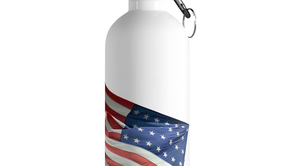 US Flag Stainless Steel Water Bottle