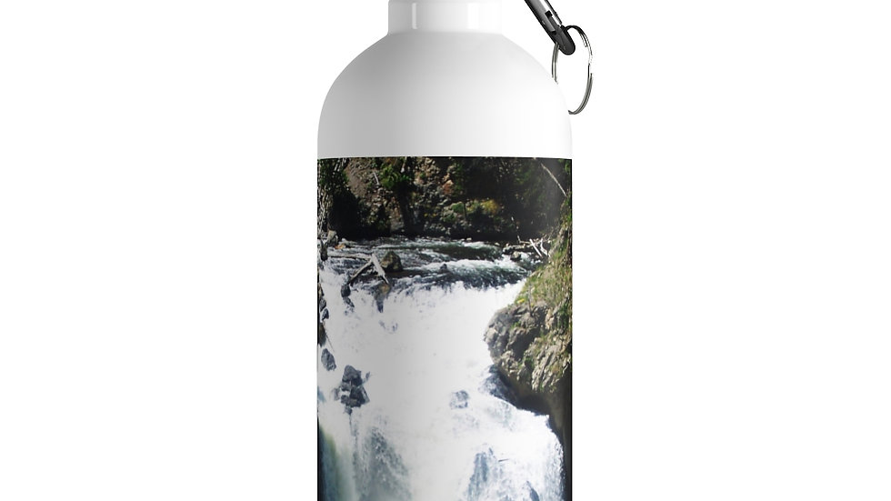 Mountain River Yellowstone National Park Stainless Steel Water Bottle