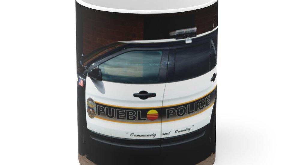 Pueblo Police Cruiser, Pueblo, Colorado Ceramic Mug 11oz