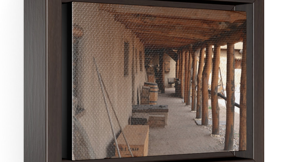 Old Bent's Fort Colorado Horizontal Framed Premium Gallery Wrap Canvas