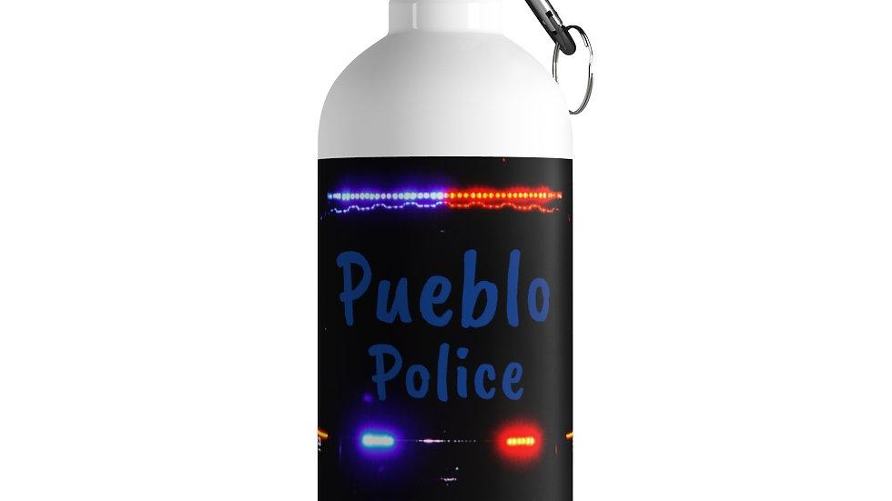Pueblo Police Stainless Steel Water Bottle
