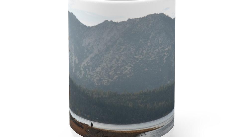 Lake Tahoe White Ceramic Mug