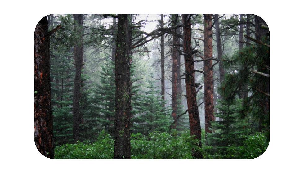 Forest Rain and Fog, Rye, Colorado Bath Mat