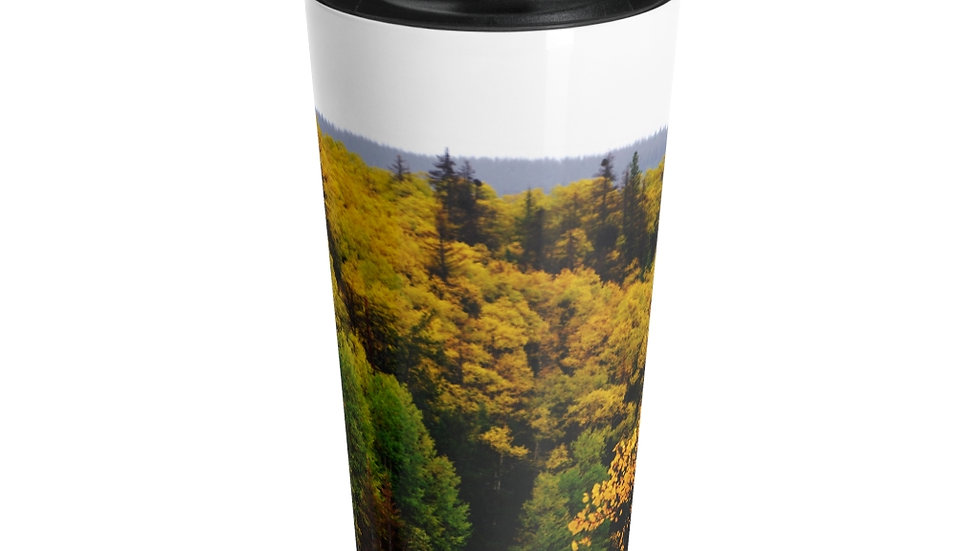 Mountain Fall Foliage Stainless Steel Travel Mug