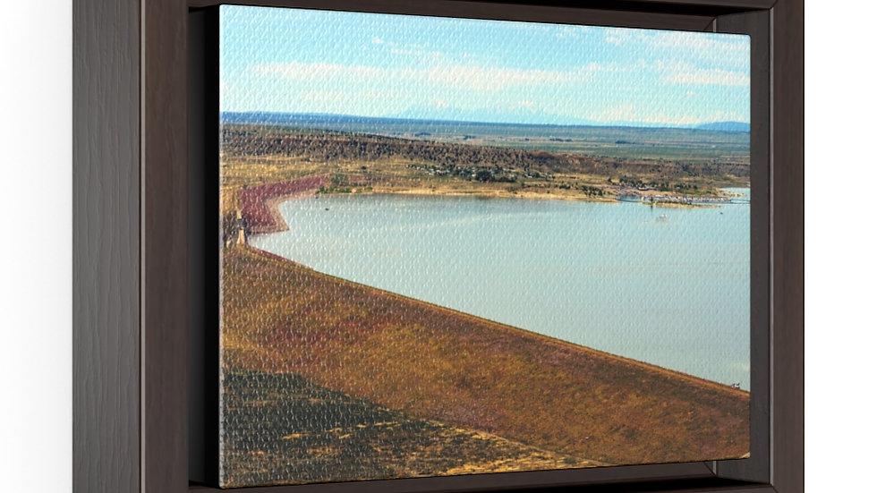 Lake Pueblo, Pueblo, Colorado Horizontal Framed Premium Gallery Wrap Canvas