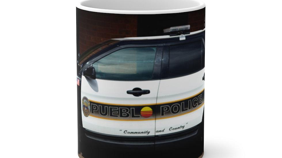 Pueblo Police Cruiser, Pueblo, Colorado Color Changing Mug