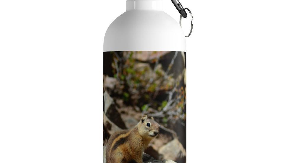 Mountain Chipmunk Stainless Steel Water Bottle