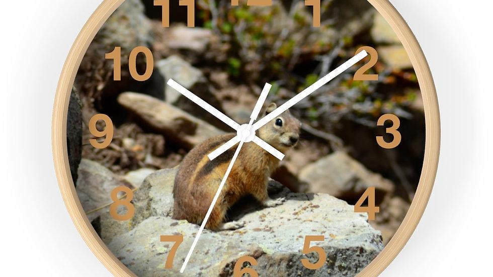 Mountain Chipmunk Wall clock