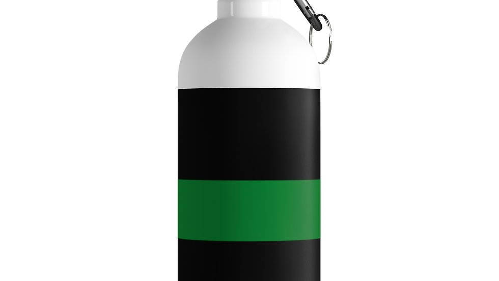 Thin Green Line Stainless Steel Water Bottle