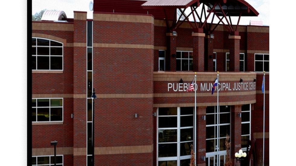 Pueblo, Colorado Municipal Justice Center Canvas Gallery Wraps