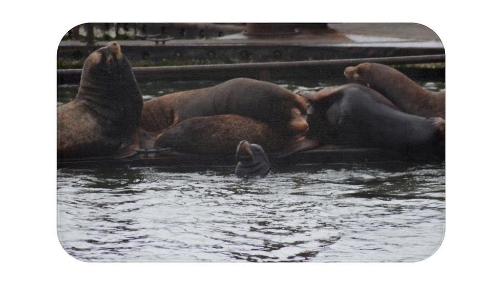 Sea Lions on the Dock Bath Mat