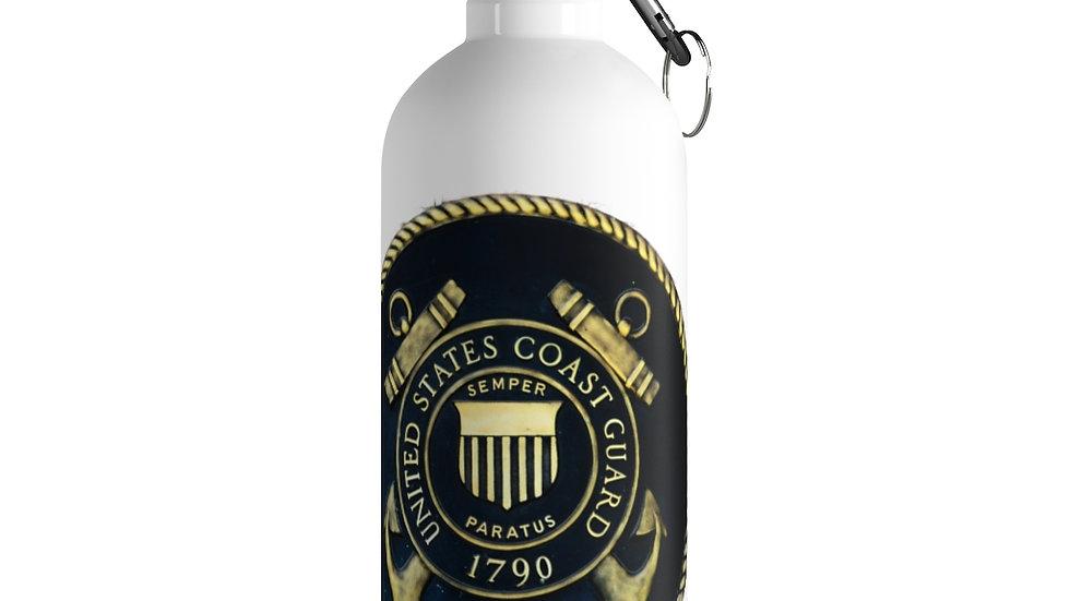 US Coast Guard Seal Stainless Steel Water Bottle