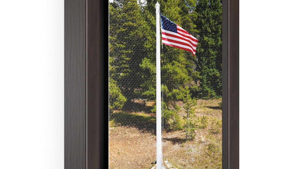 Old Glory Vertical Framed Premium Gallery Wrap Canvas