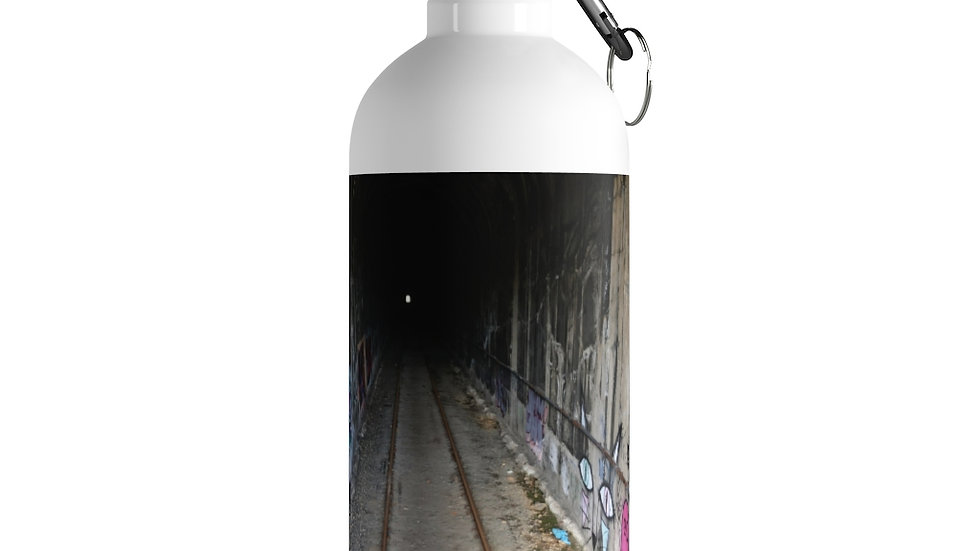 Abandoned Train Tunnel Stainless Steel Water Bottle