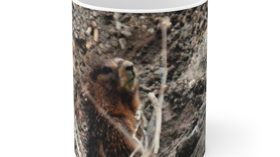 Mountain Marmot White Ceramic Mug