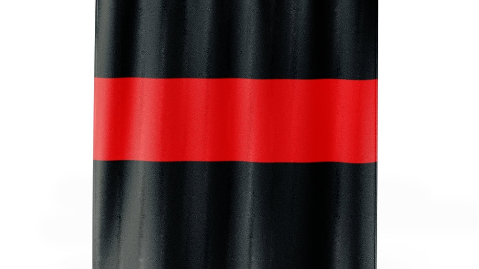 Thin Red Line Shower Curtains