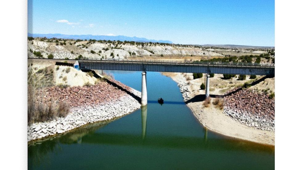 Lake Pueblo Railroad Crossing Canvas Gallery Wraps