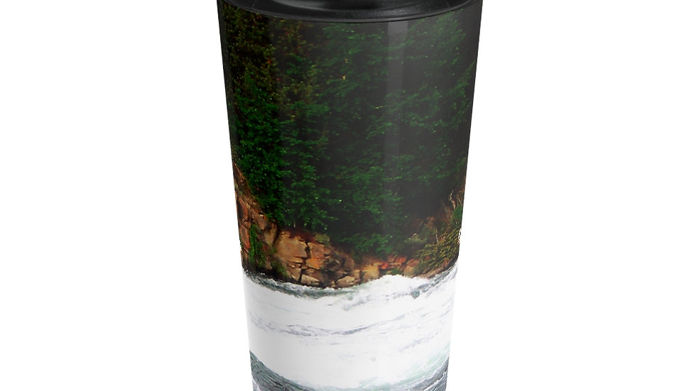 Pelicans in Flight, Yellowstone National Park Stainless Steel Travel Mug