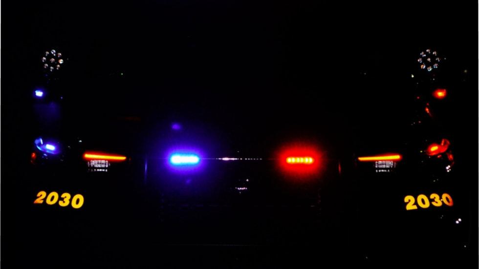 Police Cruiser Microfiber Duvet Cover
