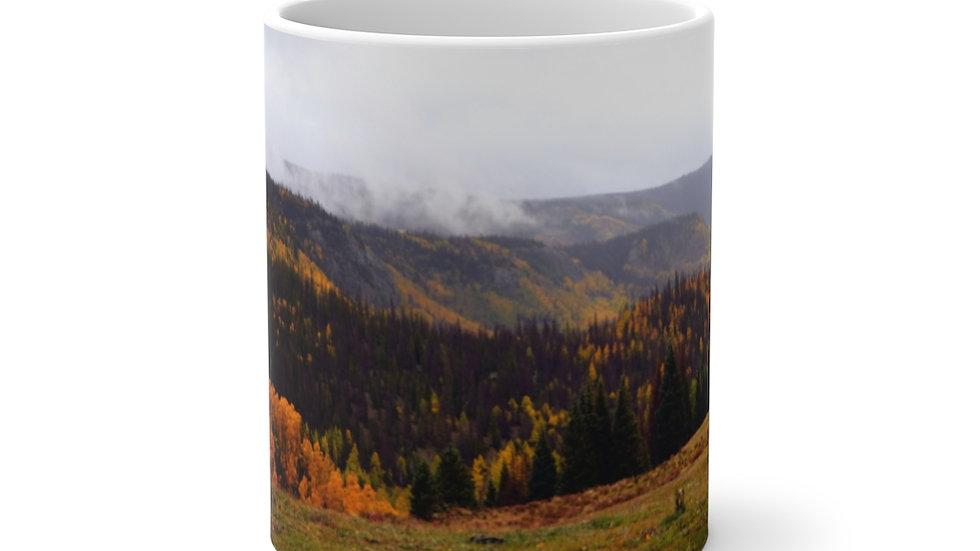 Mountain Fall Foliage Color Changing Mug