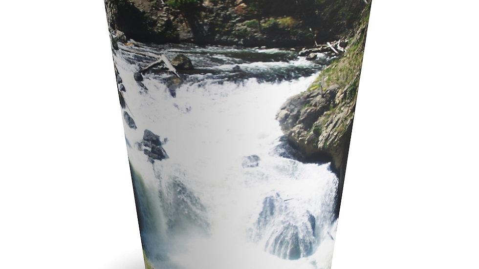 Mountain River Yellowstone National Park Latte Mug