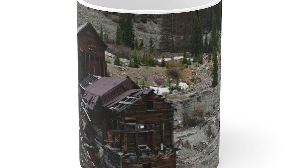 Mining Remnants White Ceramic Mug