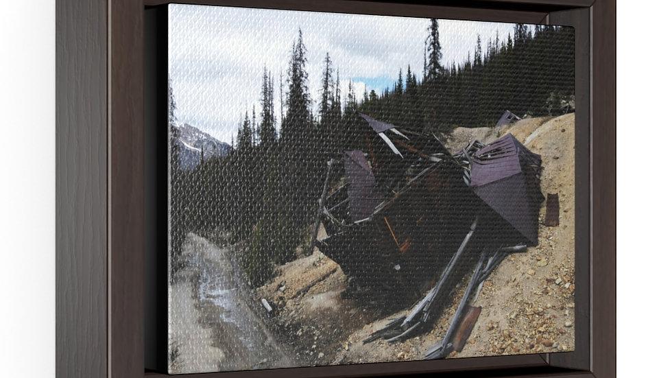 Mining Remnants Horizontal Framed Premium Gallery Wrap Canvas
