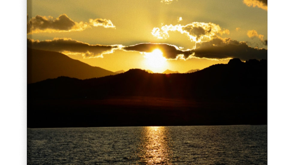 Sunset on the Lake, Lake DeWeese, Colorado Canvas Gallery Wraps