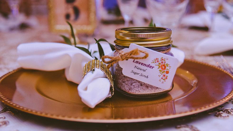 Natural Sugar Scrubs 8 oz Wedding favors 50 pack